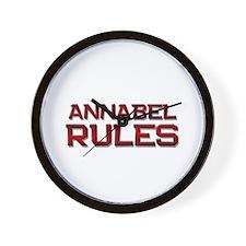 annabel rules Wall Clock