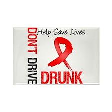 Don't Drive Drunk Save Lives Rectangle Magnet (10