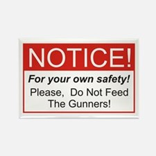 Notice / Gunners Rectangle Magnet