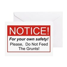Notice / Grunts Greeting Card