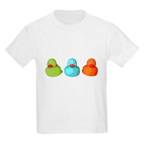 Three Rubber Ducks Kids Light T-Shirt