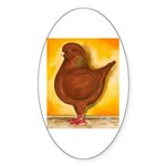 Schietti Modena Pigeon Oval Sticker (50 pk)