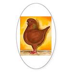 Schietti Modena Pigeon Oval Sticker (10 pk)