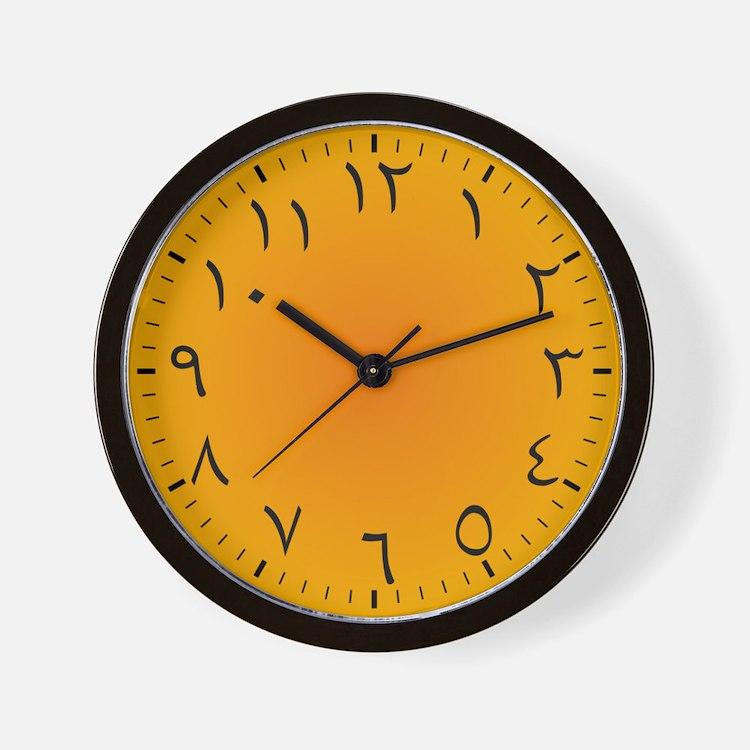 Eastern Arabic Wall Clock (Golden Sands)