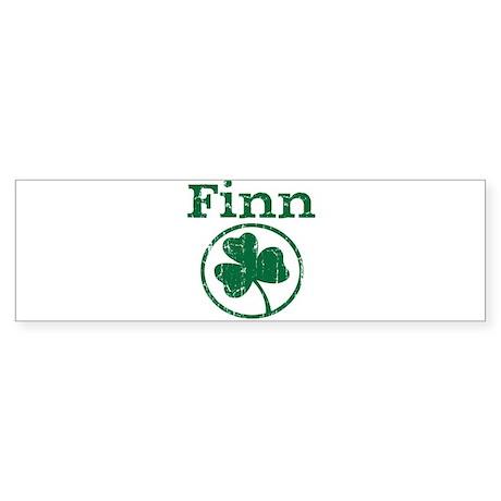 Finn shamrock Bumper Sticker