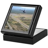 R22 helicopter pilot Square Keepsake Boxes