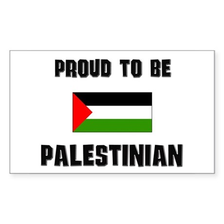 Proud To Be PALESTINIAN Rectangle Sticker