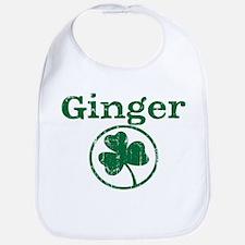 Ginger shamrock Bib