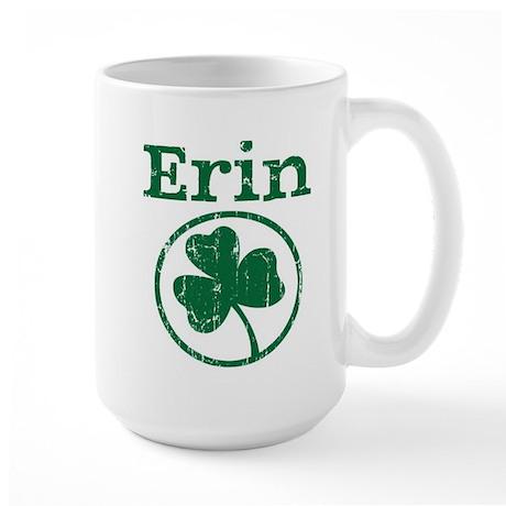 Erin shamrock Large Mug
