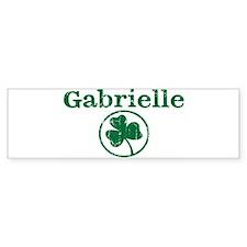 Gabrielle shamrock Bumper Car Sticker