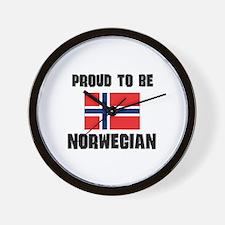 Proud To Be NORWEGIAN Wall Clock