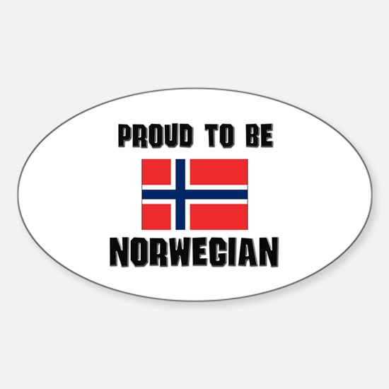 Proud To Be NORWEGIAN Oval Decal
