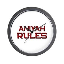 aniyah rules Wall Clock