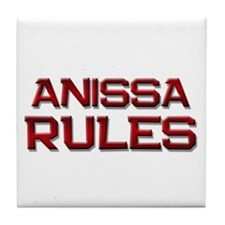 anissa rules Tile Coaster