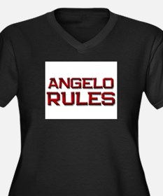 angelo rules Women's Plus Size V-Neck Dark T-Shirt