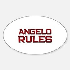 angelo rules Oval Decal