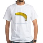Fully Erect Banana Offensive White T-Shirt