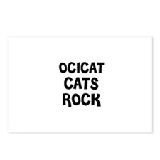 OCICAT CATS ROCK Postcards (Package of 8)
