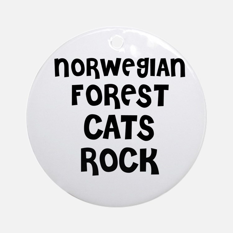 NORWEGIAN FOREST CATS ROCK Ornament (Round)