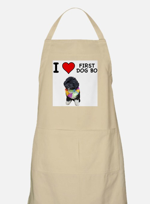 I Love First Dog Bo BBQ Apron