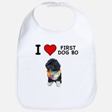 I Love First Dog Bo Bib