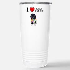 I Love First Dog Bo Travel Mug