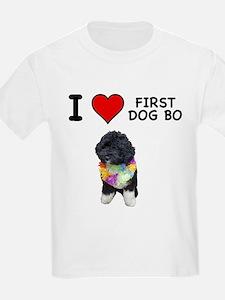 I Love First Dog Bo T-Shirt