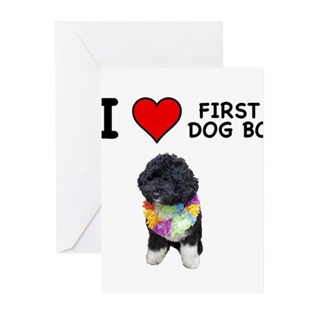 I Love First Dog Bo Greeting Cards (Pk of 20)