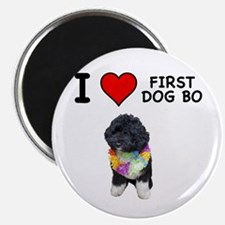 I Love First Dog Bo Magnet