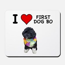 I Love First Dog Bo Mousepad