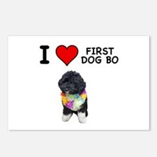 I Love First Dog Bo Postcards (Package of 8)