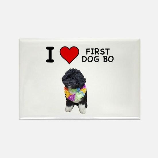 I Love First Dog Bo Rectangle Magnet (10 pack)