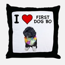 I Love First Dog Bo Throw Pillow