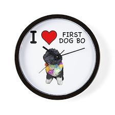 I Love First Dog Bo Wall Clock