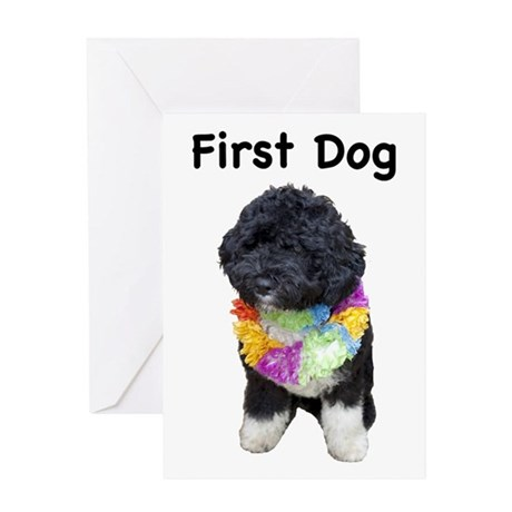 First Dog Bo Greeting Card