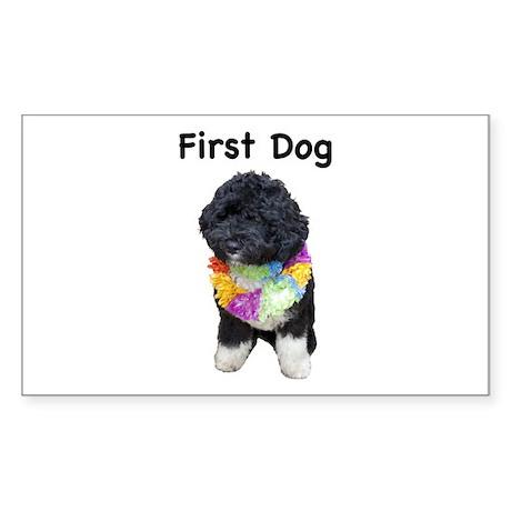 First Dog Bo Rectangle Sticker