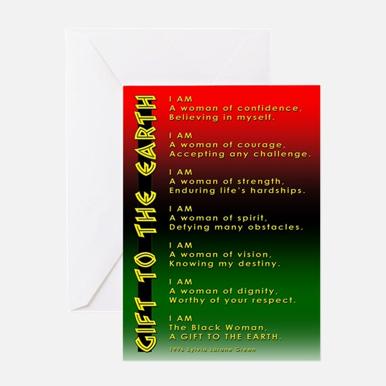 Funny Ethnic woman Greeting Card