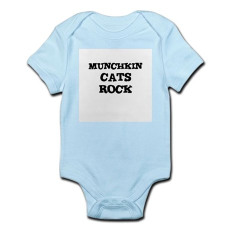 MUNCHKIN CATS ROCK Infant Creeper