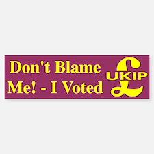 I Voted UKIP Bumper Bumper Bumper Sticker