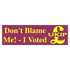I Voted UKIP Bumper Car Sticker