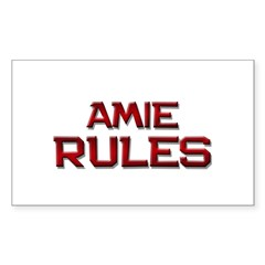 amie rules Rectangle Decal
