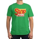 Stop Blaming Clinton Men's Fitted T-Shirt (dark)