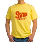 Stop Blaming Clinton Yellow T-Shirt