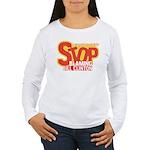 Stop Blaming Clinton Women's Long Sleeve T-Shirt