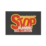 Stop Blaming Clinton Rectangle Magnet