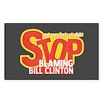 Stop Blaming Clinton Rectangle Sticker 10 pk)