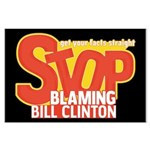 Stop Blaming Clinton Large Poster