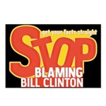 Stop Blaming Clinton Postcards (Package of 8)