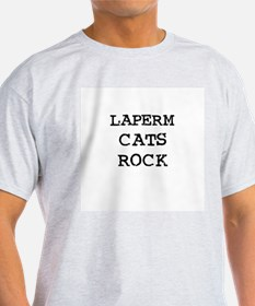 LAPERM CATS ROCK Ash Grey T-Shirt