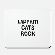LAPERM CATS ROCK Mousepad
